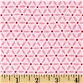 Moda Ever After Flower Lattice Passionate Pink
