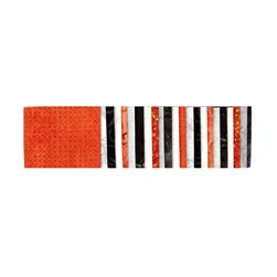 "#1 Fan Essential Gems 2.5"" Strips Orange/White/Black"