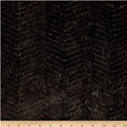 Minky Soft Ziggy Cuddle Black Fabric