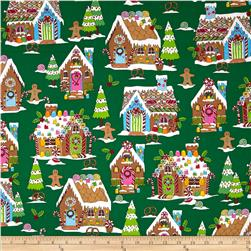 Kanvas Winter Novelty Gingerbread House Green