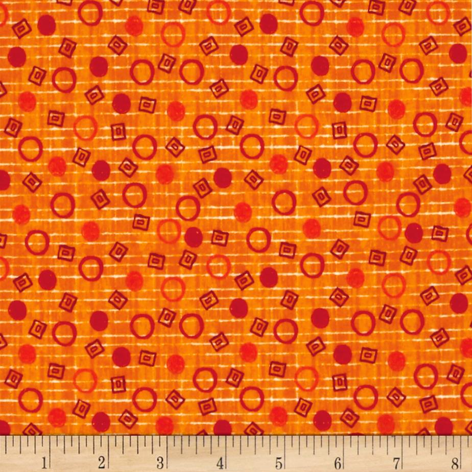 Dino-Myte Flannel Dots Orange