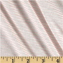 Pin Stripe Jersey Knit Blush/White
