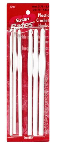 Susan Bates Luxite Plastic Crochet Hook Set Sizes