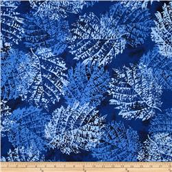 Bali Batiks Handpaints Leaves Navy