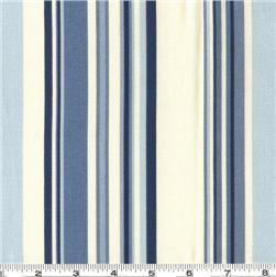 Waverly Sequence Stripe Fabric Porcelain Blue