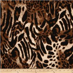 Soft Jersey Knit Animal Multiskin Brown/Black