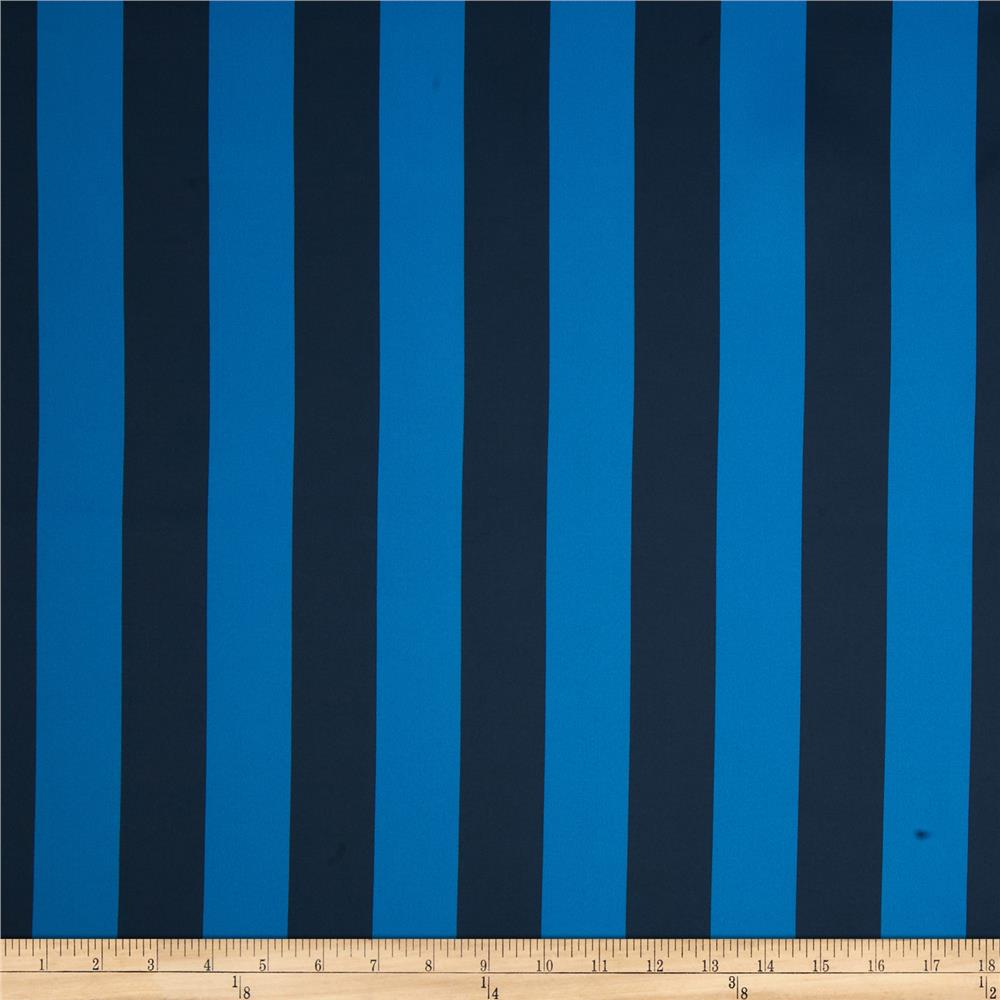 RCA Vertical Stripe Blackout Drapery Fabric Swedish Blue/Blue