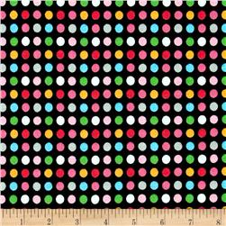 Cotton Jersey Knit Monkey Dots Black/Multi