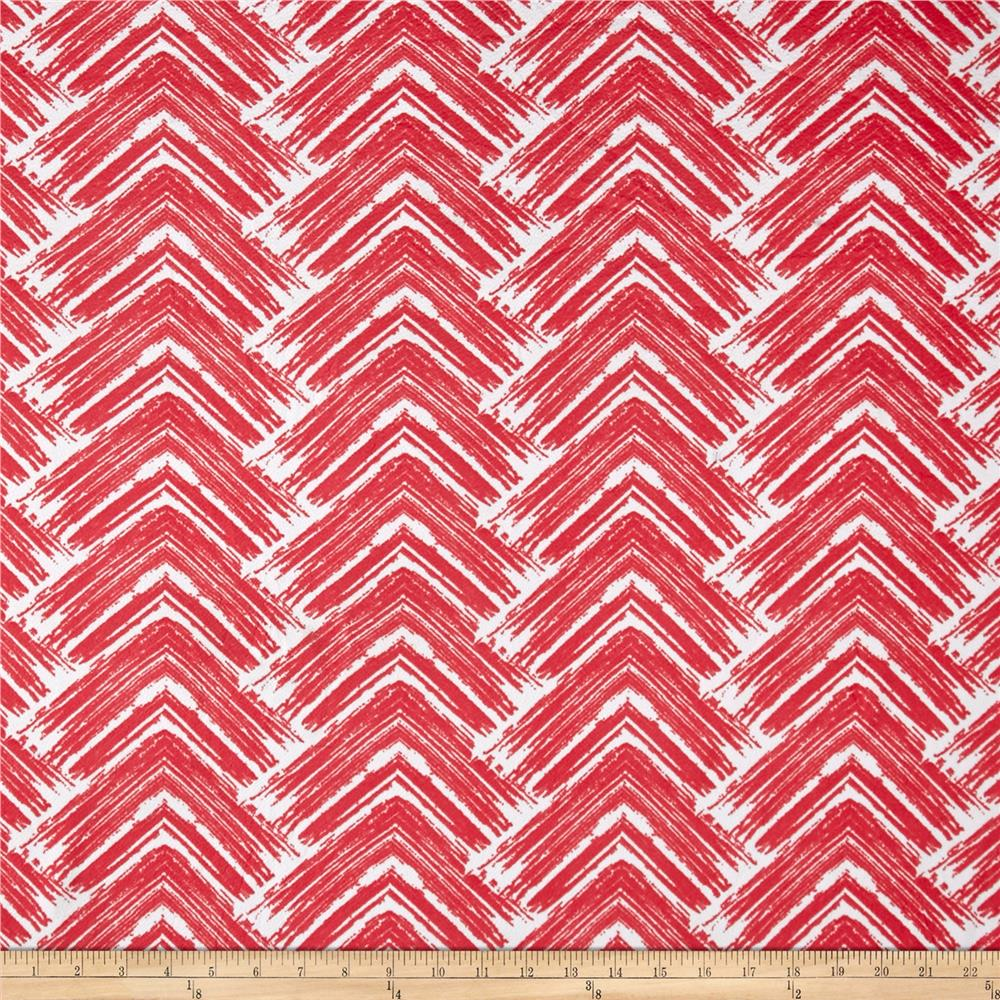 Liverpool Double Knit Absract Arrows Coral