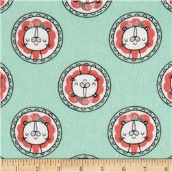 Flannel Lion Dot Aqua