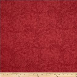Moda Under the Mistletoe 108 In. Quilt Back Etched Scrolls Crimson