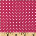 Flo's Garden Pin Dot Hot Pink