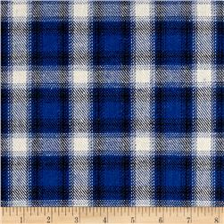 Yarn Dyed Plaid Flannel Blue