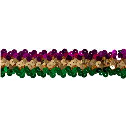 Team Spirit #66 Sequin Trim Mardi Gras