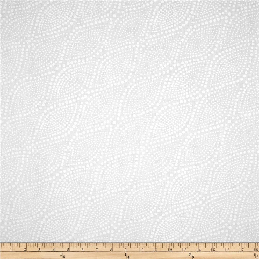 "Essentials 108"" Diagonal Dots White On White"