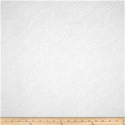 "108"" Wide Essentials Quilt Backing Diagonal Dots White On White"