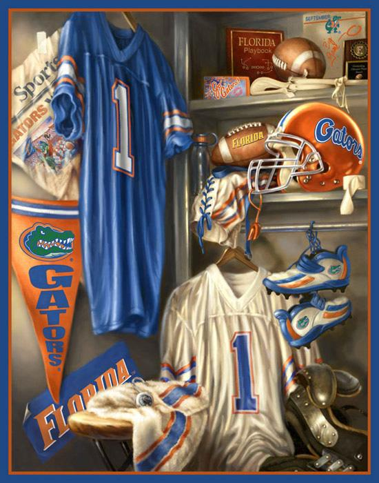 Collegiate Fleece Locker Room Panel University Of Florida