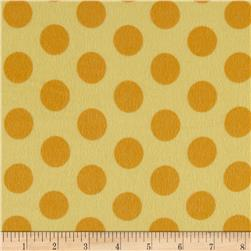 Flannel Cookie Dots Lemon Drop