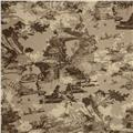Premier Prints Birmingham Toile Blend Italian Brown/Oatmeal