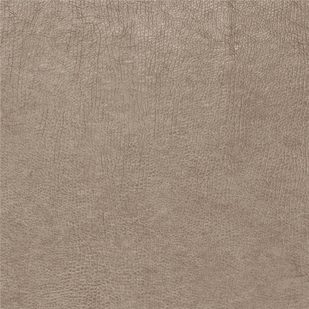 Fabricut 03344 Metallic Faux Leather Mushroom