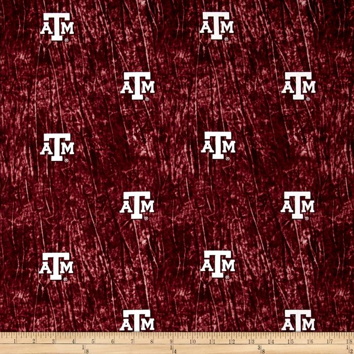 Collegiate Cotton Broadcloth Texas A&M University Tie Dye