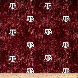 Collegiate Cotton Broadcloth Texas A&M University Tie Dye Print Burgundy