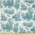 Premier Prints Jamestown Toile Plantation Blue