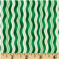 Christmas Basics Wavy Stripe Green