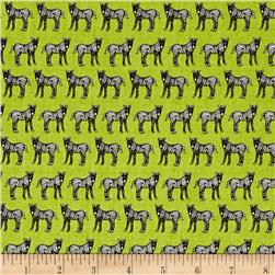 Jungle Party Standing Zebra Lime