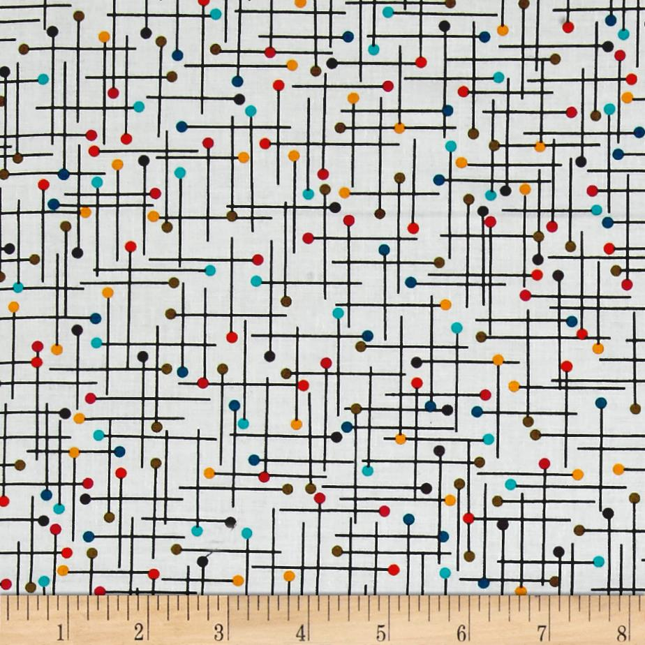 Kanvas Sew Sew Pin Geo White/Multi