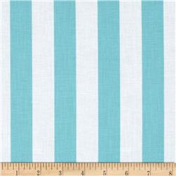 Riley Blake 1'' Stripe Aqua Fabric