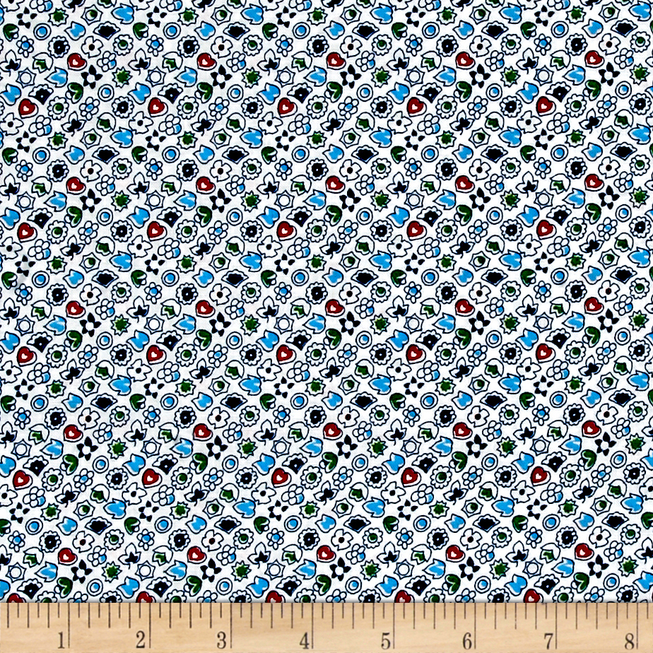 Image of Everything But The Kitchen Sink Sweetheart Blueberry Fabric