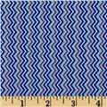 Let It Rain Chevron Stripe Blue