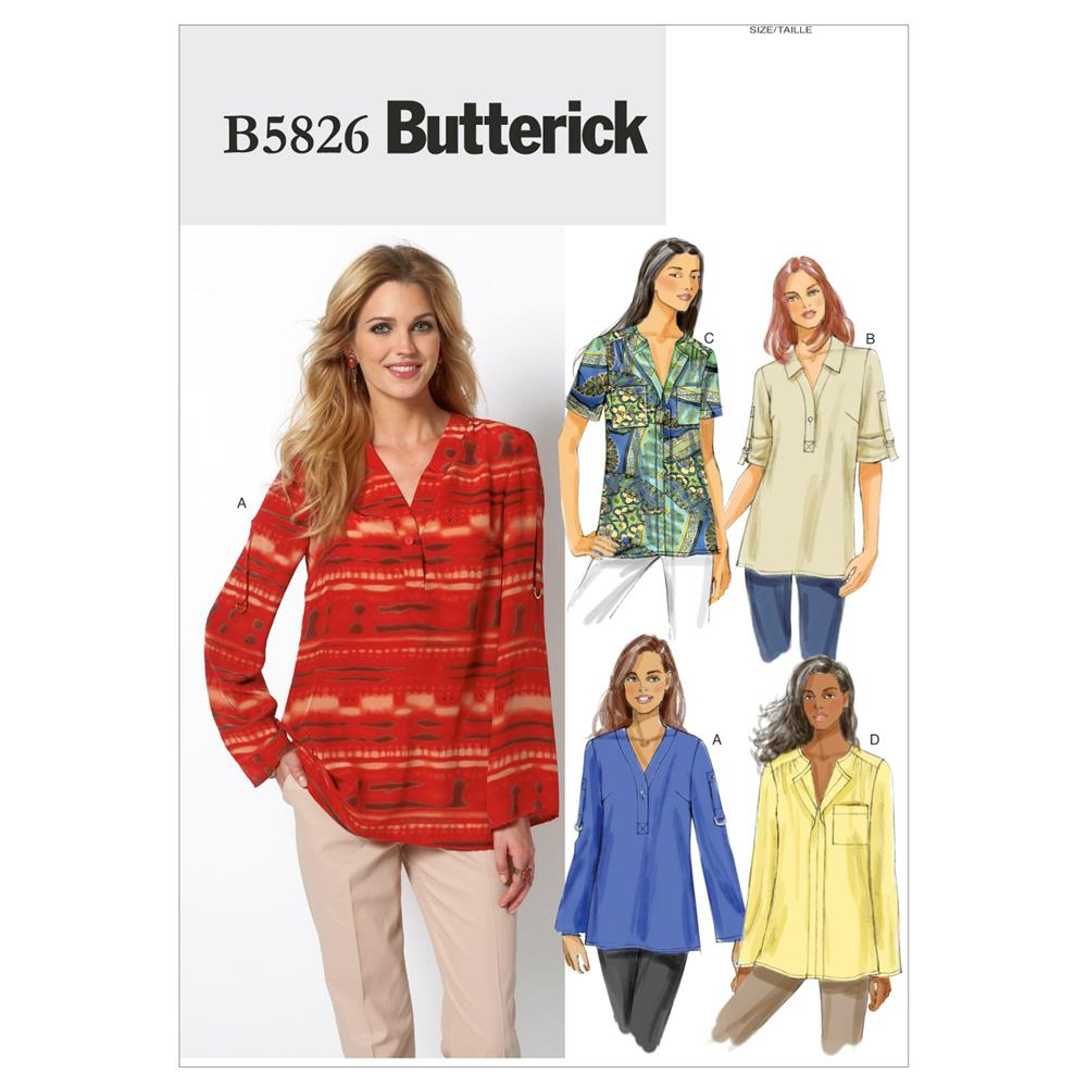 Butterick Misses'/Women's Top Pattern B5826 Size B50