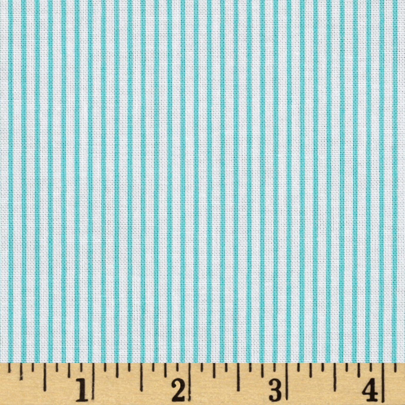 Precious Beginnings Stripe Blue Fabric