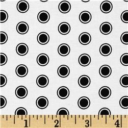 Riley Blake Evening Blooms Dots White Fabric