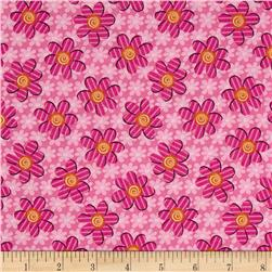 Kozy Kitties Fun Flower Pink Fabric
