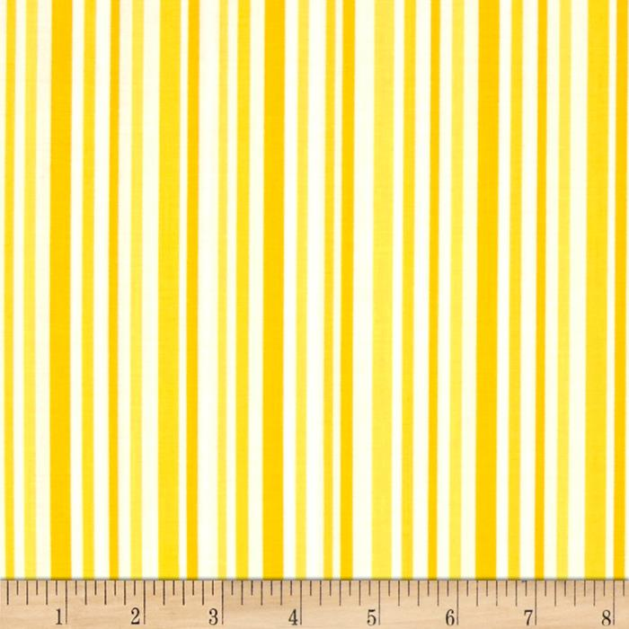 Moda Hi De Ho Stripe Yellow