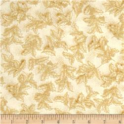Holiday Flourish 7 Metallic Holly Snow Fabric