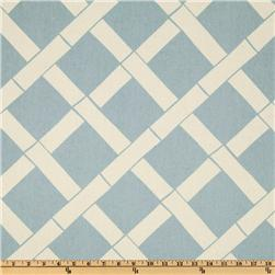 Premier Prints Key West Village Blue/Natural Fabric