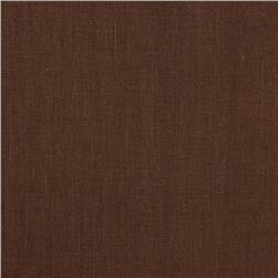 European 100% Washed Linen Chocolate