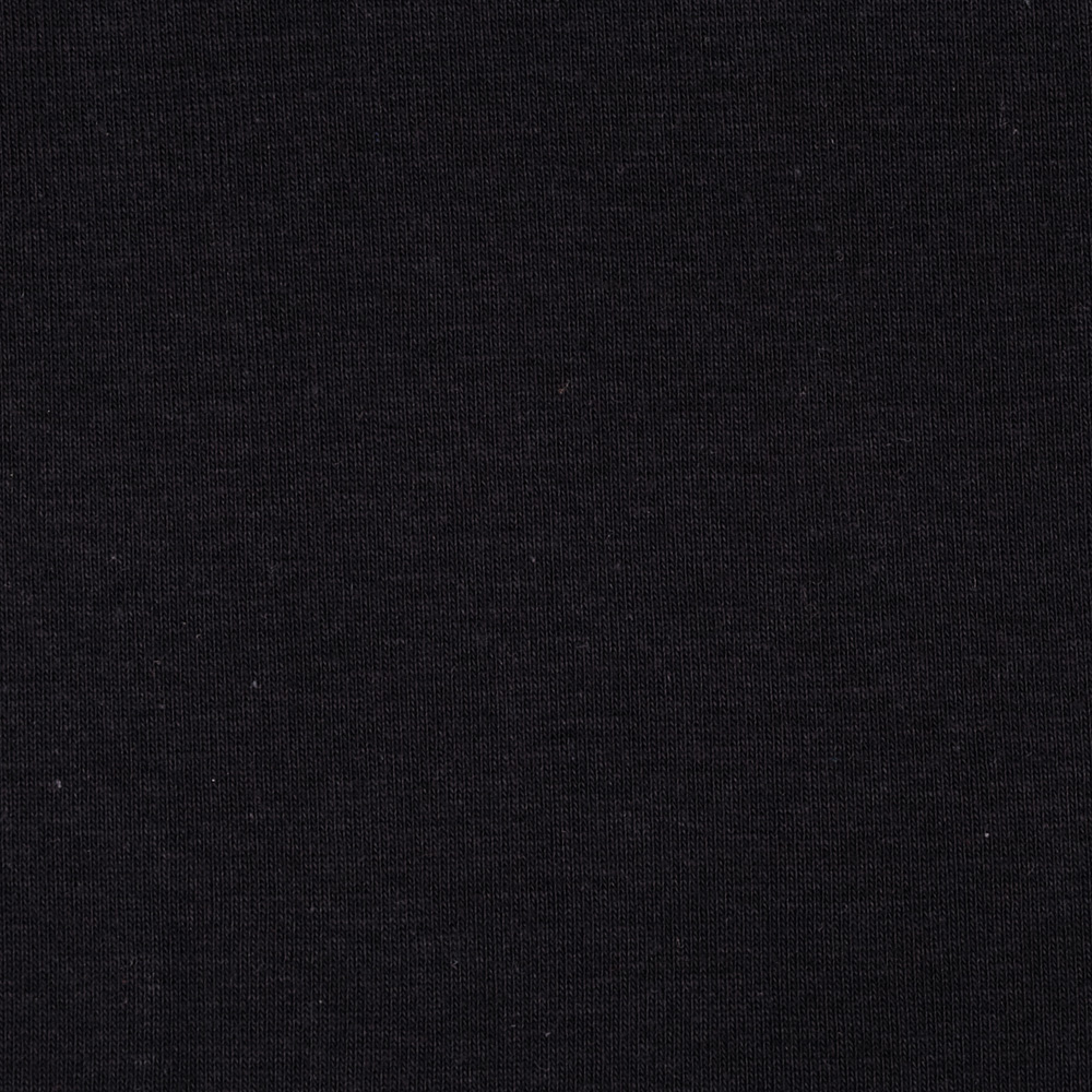 Cotton Baby Rib Knit Dark Black Fabric