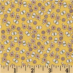 Aunt Grace Miniatures Small Floral Yellow