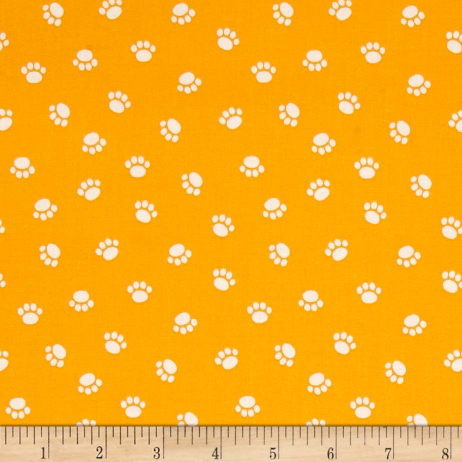 Riley Blake Rover Paw Orange