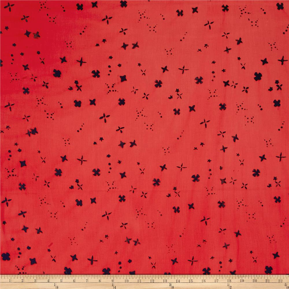 Alison Glass Handcrafted Batiks Chroma Scatter Salmon