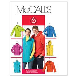 McCall's Misses/Men's Unlined Vest and Jackets Pattern M5252 Size XM0