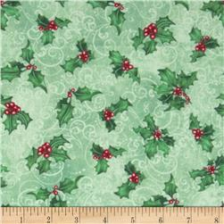 Chickadee Holiday Holly Toss Green