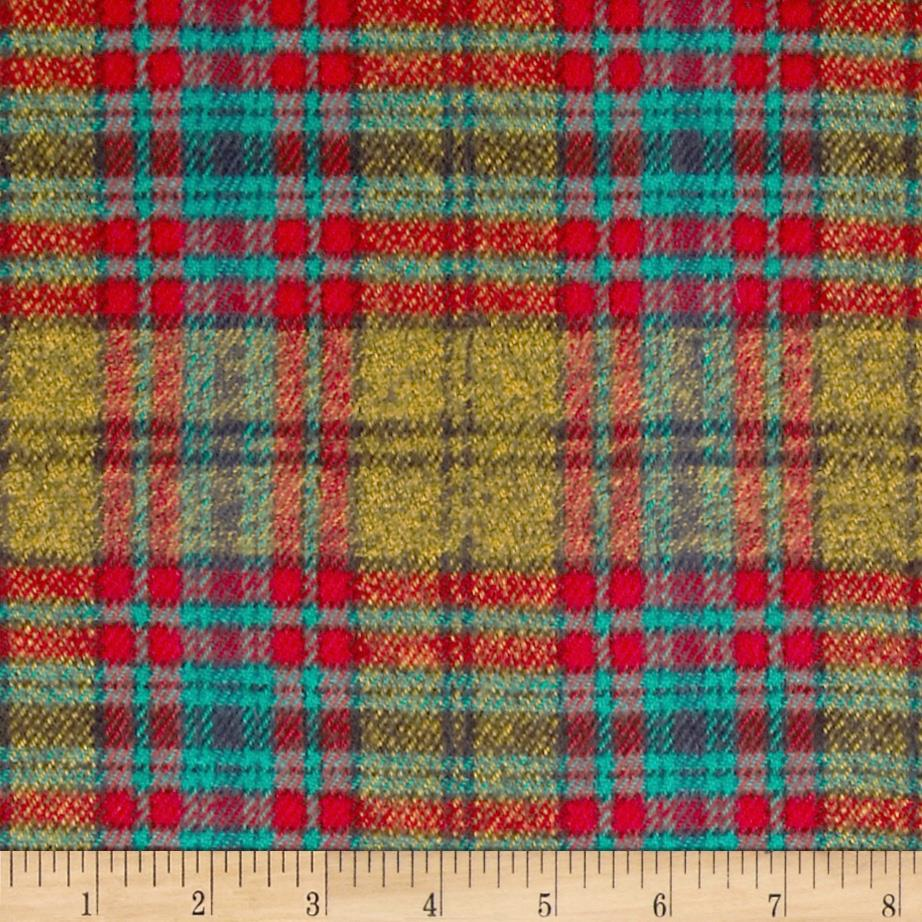 6 oz. Flannel Plaid Gold/Green/Red