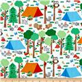 Camping Club Forest Scene White