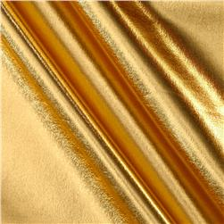 Foil Lame Knit Spandex Gold